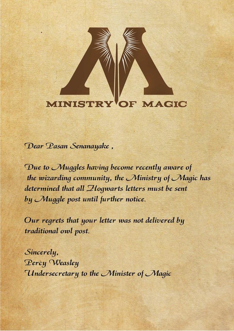 Custom Hogwarts Acceptance Letter.Personalized Hogwarts Letter