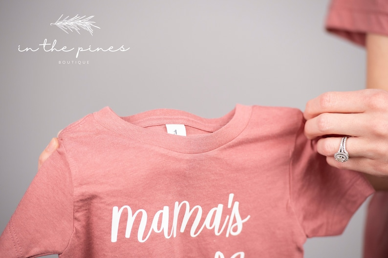 Mother\u2019s Day Mama/'s Girl Matching T-Shirts Mother Daughter shirts Mommy and me outfits Mama Gift for New Baby