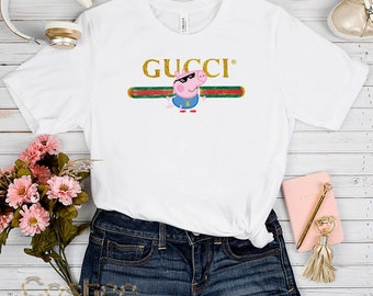 956276857 Luxury Gucci Shirt, Inspired thug life George peppa pig Gucci t shirt, Fashion  Gucci Mens tshirt Unisex, Gucci Womens t-shirt Gucci tshirt