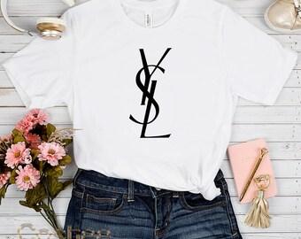 9019bf63e7db Limited ysl Mens tshirt Unisex, Fashion ysl Shirt, Inspired Tshirt ysl Logo  shirt yves saint laurent t shirt, ysl Womens tshirt ysl tshirt