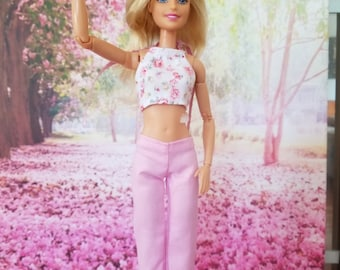 NEW BARBIE PINK CAMOUFLAGE CAPRI PANTS FOR TALL BARBIE DOLLS