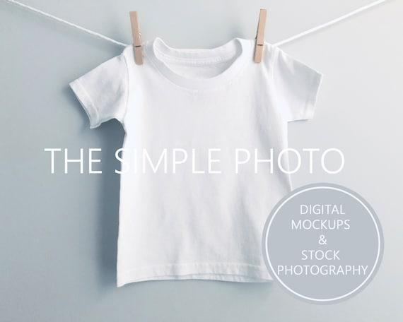 White Toddler Shirt Mockup Blank White Childs T Shirt White Etsy