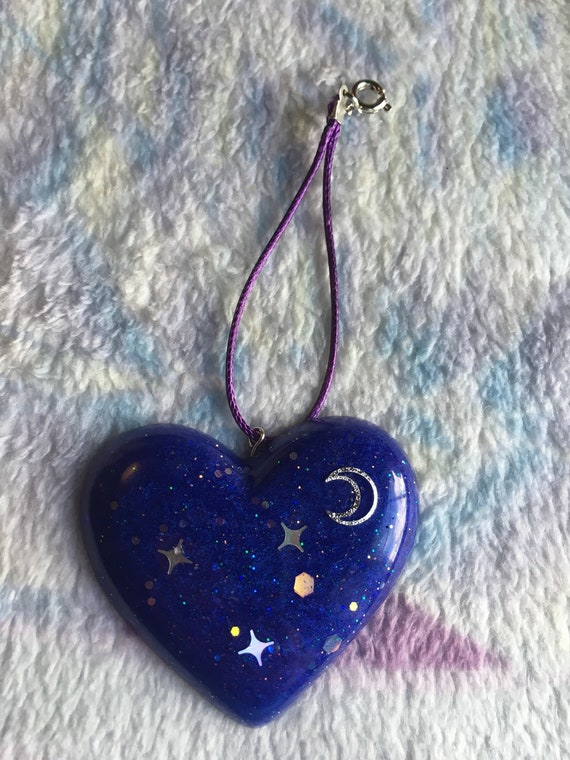 Space Heart Charm by Etsy