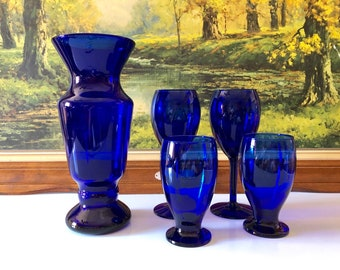 Vases Sterling Silver Centerpiece Cobalt Blue Vase Lamp Antiques