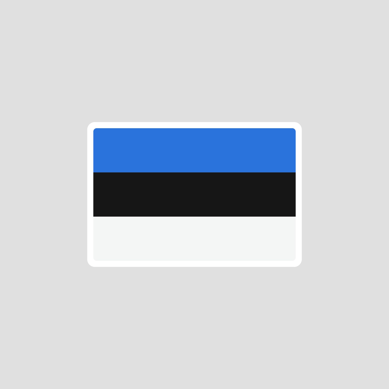 5ab1d5e684f Estonia Flag Sticker incl. 2 | Etsy