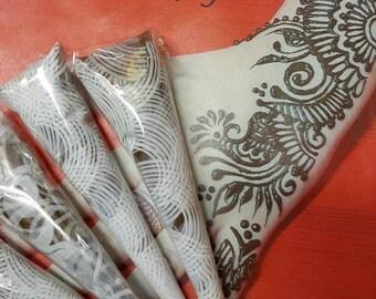 1bf0254dda519 Five 100% Natural, Organic, Fresh, & Dark Staining Henna Cones / Sensitive  Skin / Natural Ingredients / Mehendi Cones / Natural Body Art