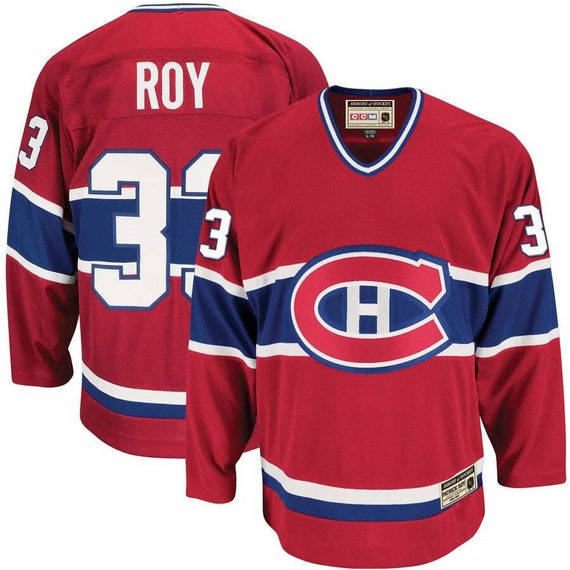 Vintage Montreal Canadiens Patrick Roy CCM Red Her