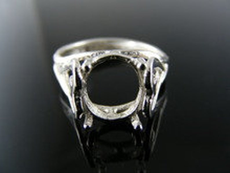 10X8MM Oval Stone D3168 Ring Setting Sterling Silver Size 7.5