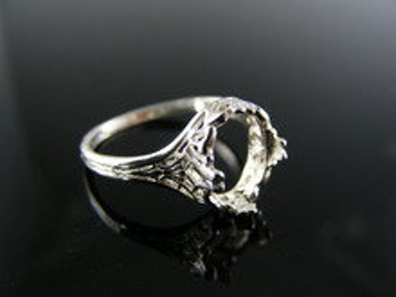 9x7 mm Oval Stone 5518 Sterling Silver Ring Mounting Size 5.5