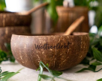Jumbo coconut shell with spoon |sustainable | biodegradable |Coconut Bowl