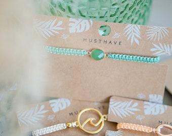 """World-loving bracelet """"SMARAGD"""""""