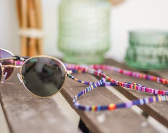 Eyeglass strap: Stylish eyewear necklace in an ethnic look for the summer