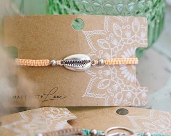 """World-loving bracelet """"Seashell-Love"""" (silver)"""