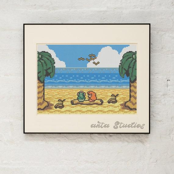 Legend Of Zelda Link S Awakening Marin Beach Date Cross Stitch Pattern Instant Download Pdf Zelda Gift