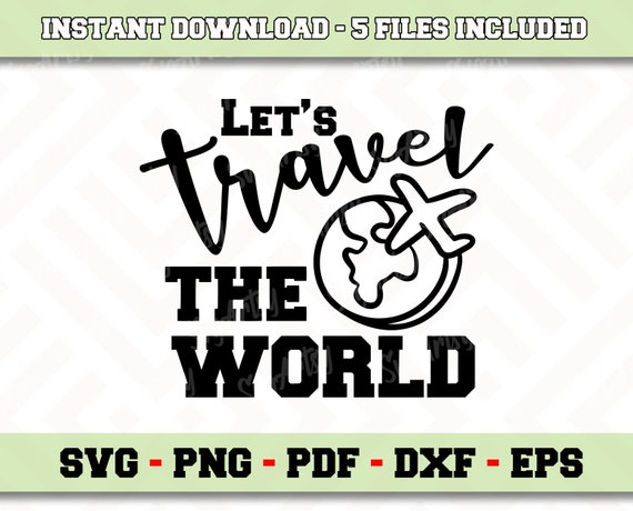 Digital Files Instant Download Cameo dxf Travel svg Files for Cricut eps Silhouette