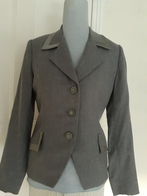 1950s grey fitted jacket