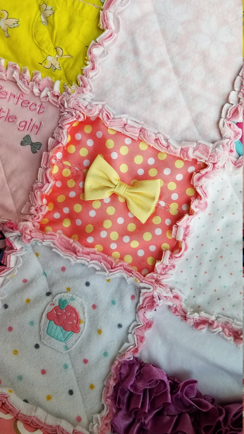 CUSTOM Rag Quilt from Baby Clothing Memory Clothes Keepsake