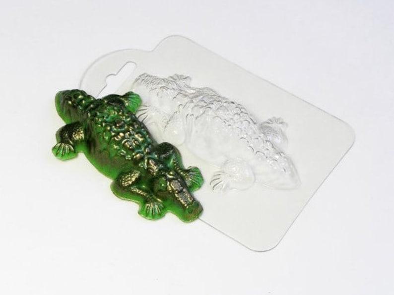 Ice Mold Reptile Mold Soap Mold Crocodile Mold Unique Animal Mould Chocolate Mold Alligator Mold Soap Making Supplies Bath Bomb Mold