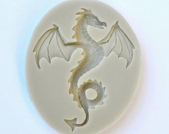 DRAGON MOLD, Fondant Mold, Dragon Theme Cake Decorations, Chocolate Making Supplies, Unique Dragons Polymer Clay Mold, Resin Mold