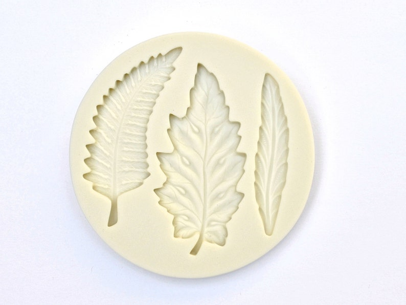 3 Cavity Silicone Fondant Mold Cake Decorating Chocolate Making Mold Bird Mold Sugarcraft Mold FEATHERS VARIETY MOLD Feather Mould