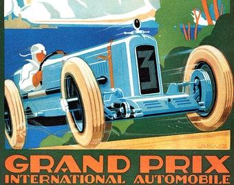 AV30 Vintage 1929 Monaco Grand Prix Classic Motor Racing Poster Re-Print A4