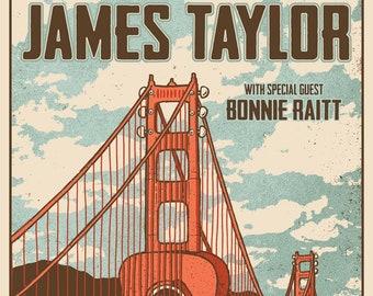 James Taylor with Bonnie Raitt Concert Poster Re print  (5538)