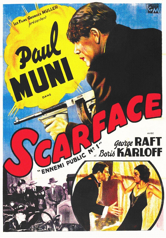 Image result for scarface 1932 poster