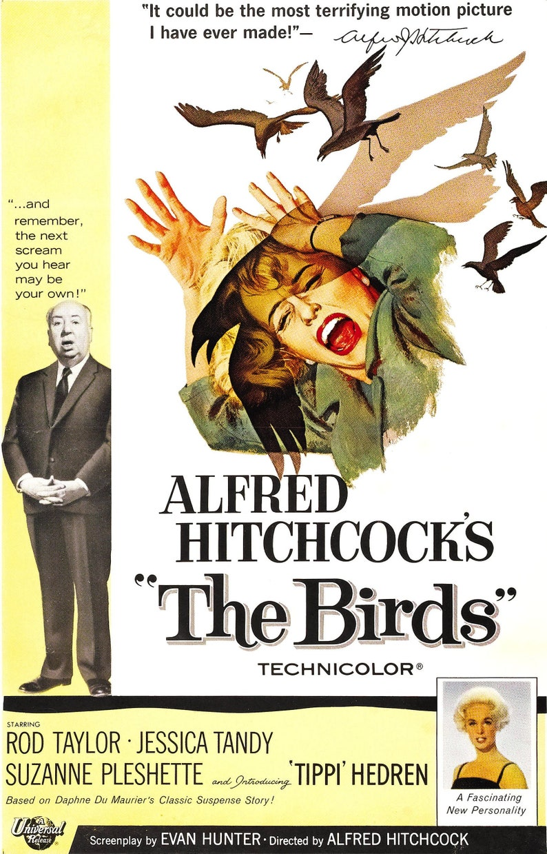 The Birds  Alfred Hitchcock    Vintage movie poster  759 image 0