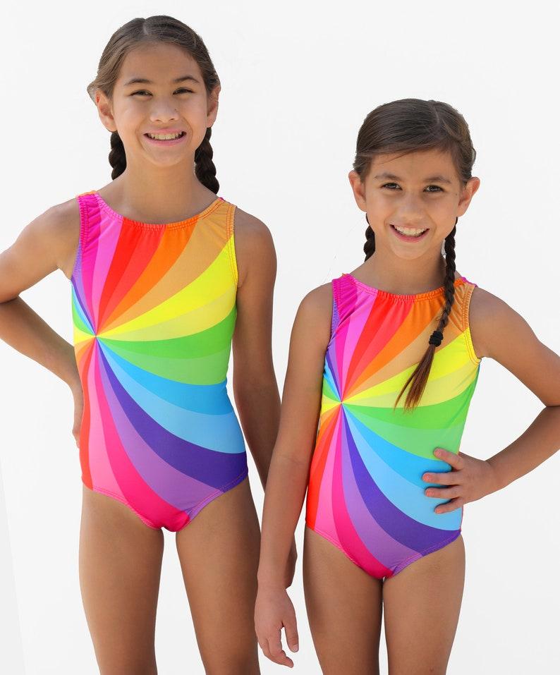 Girls Rainbow Gymnastics Leotard | Etsy