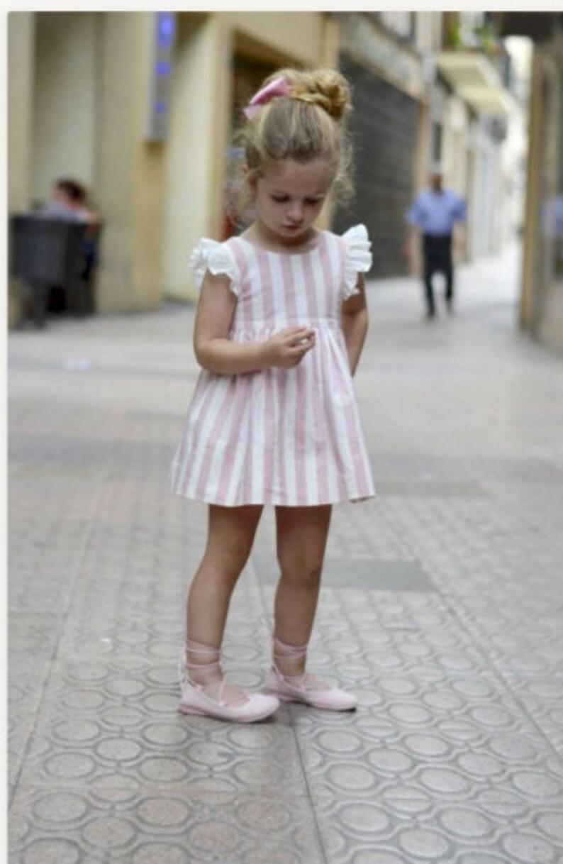 Linen Dress Special Occasion Dress Flutter Sleeve Dress Linen Lace Girls Linen Dress Vintage Style Baby Dress Toddler Girls Dress