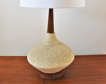 Mid Century Modern Decor Vintage Chalkware Table Lamp