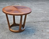 Mid-Century Modern Rhythm Side Table in Walnut by Lane Furniture Co. attributed to Adrian Pearsall