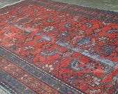 Vintage Hand Knotted Distressed Persian Style Lilihan Floral Area Rug - 3 39 4 quot x 4 39 8 quot