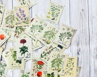 Mini Cards for Junk Journal Supplies Postage Stamp and Vintage Art and Document Designs Travelers Notebook Collages Botanical Ephemera