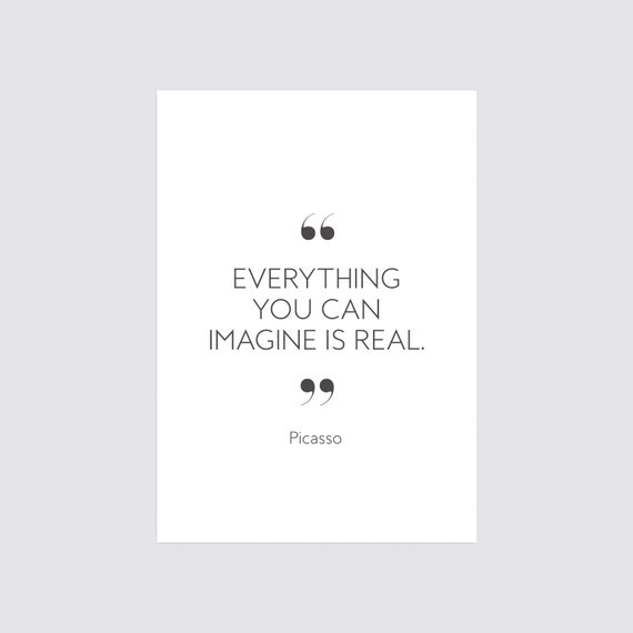 Intention is Reality Inspirational Quote Poster Art Print A3 A4 A5 Decor Wall