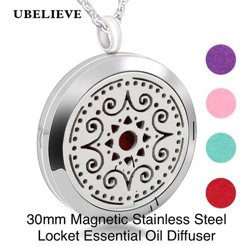 sterling silver cubic zirconia adjustable ring .... Essential oil stainless steel magnetic necklace difusser package .