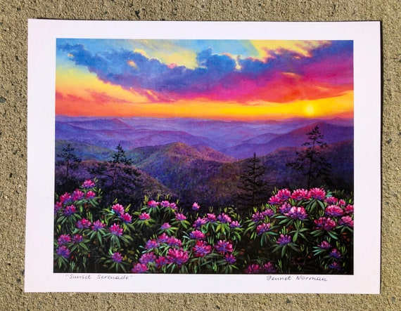 Print Sunset Serenade 11 x 8 by Jennet Norman