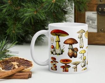 Mushrooms Coffee Mug 1 - Mushrooms Vintage Print Mug - Mushrooms Art - Coffee Mug - Gift Idea - CM1003