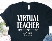 Virtual Teacher est. 2020 Cut File Design