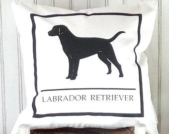 Labrador Retriever  Dog - Decorative Pillow Cover Only- Kansas City, MO-by Metro Pillow KC