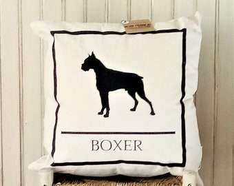 Boxer  Dog - Decorative Pillow Cover Only- Kansas City, MO-by Metro Pillow KC