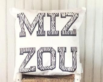 University of Missouri Tigers MIZZOU- Decorative Pillow Cover Only- Kansas City, MO-by Metro Pillow KC