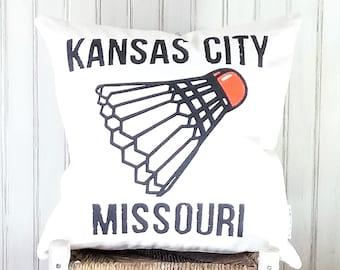 Shuttlecock Decorative Pillow Cover Only-Nelson-Atkins- Kansas City, MO-by Metro Pillow KC