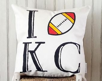 I Kansas City Chiefs- Decorative Pillow Cover Only- Kansas City, MO-by Metro Pillow KC