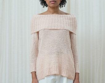 a11832f79 80s rib neck sweater | Etsy