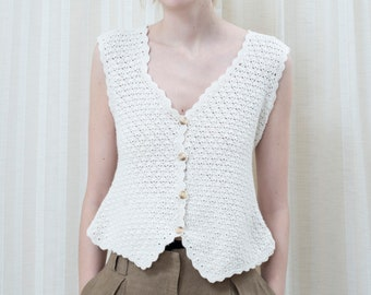 Crochet Sweater Vest Etsy