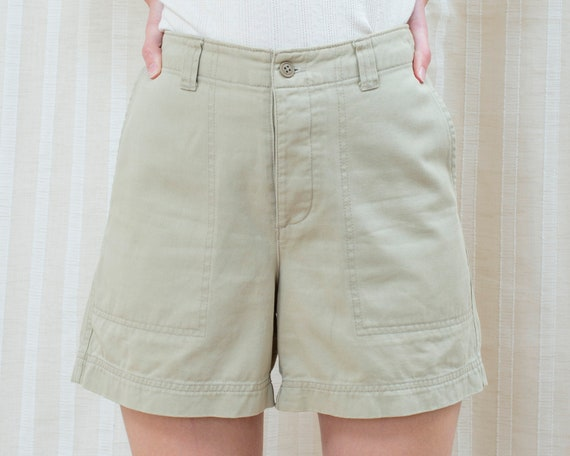 90s gap khaki shorts | high waist tan camp shorts