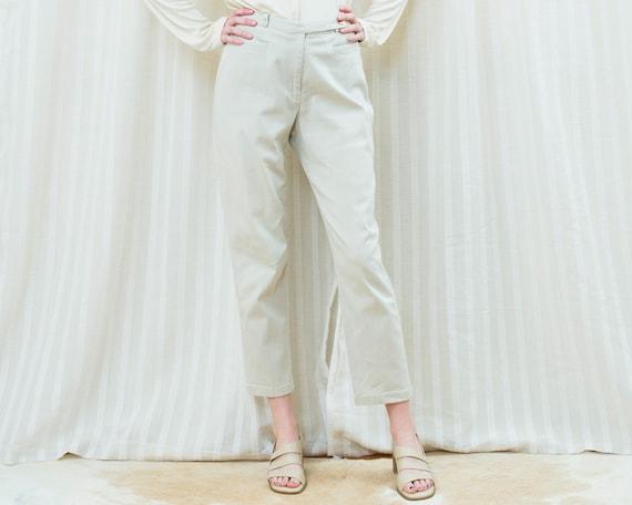 90s khaki high waisted pants 27 waist | straight l