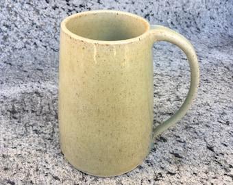 Beige handmade speckled ceramic mug