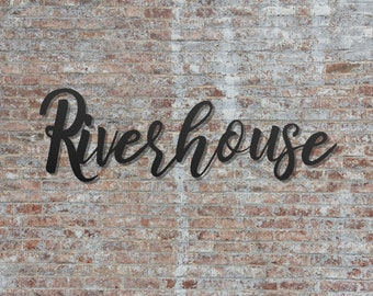 Personalized Welcome To Our River House River Sign Home Decor Metal Sign